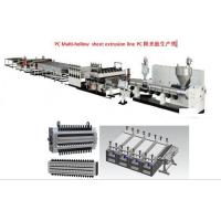 PC multi-hollow sheet production line. Manufactures