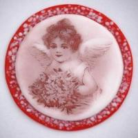Hanging Glass Ornament, Signed - Angel, Alina Gridley Manufactures