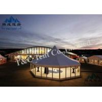 China Customized Color Outside Event Tents With Double PVC Coated Polyester Textile wholesale