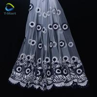 Mesh flower embroidery fabrics for women clothes making Manufactures