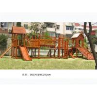 Buy cheap Competitive Price 2017 Latest Children Wooden Outdoor Playground Equipment for Schools from wholesalers