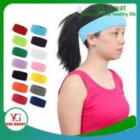 Buy cheap Custom Cotton Colorful Head Sweatband for Sports from wholesalers