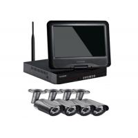China DC12V 4 Camera Wireless Security System , Wireless Cctv Camera Kit With Recorder on sale