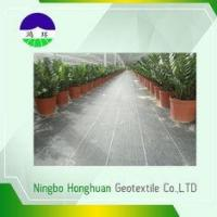 China 110gsm Split Film Woven Geotextile , Geotextile Stabilization Fabric For Weed Control on sale