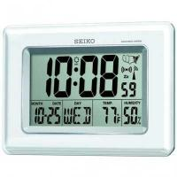 China Seiko QHR020WLH Radio Controlled LCD Clock on sale
