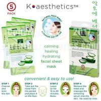 China SKIN THERAPY K-aesthetics Soothing Aloe Vera Mask - 5 pack on sale