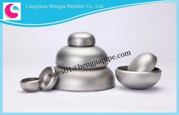 China DN15 Through DN1200 Factory-made Seamless Buttwelding Pipe Caps