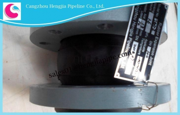 China Flexible Flanged Rubber Bellow Expansion Joints for Pipes Manufacture