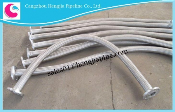 Quality Stainless Steel Corrugated and Braided Flexible Metal Hose for sale