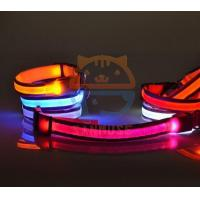 2016 New Fashion Double Reflective Led leash Led night safety flashing Dog collar leashes Manufactures