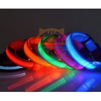 Led Pet Products 2.5cm LED Dog Nylon Collar Safety necklace Flashing Lighting Up Collar Manufactures