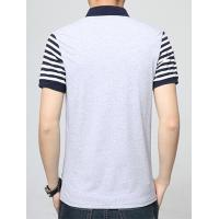 China POLO T-SHIRT Stripe Sleeves Men Polo Shirts with Pocket on sale