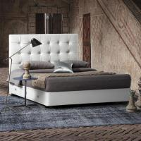 China White Modern Queen Headboard Tufted Leather Storage Upholstered Bed with Drawers on sale