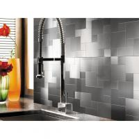 Buy cheap A16003 - Peel and Stick Metal Mosiac Sheets for Backsplash 12in X 12in 10 Tiles 9.7 Sq.ft from wholesalers