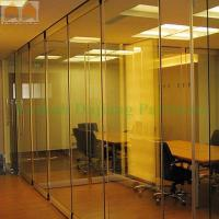 China Sliding Folding Door Glass Movable Partition for Modern Office on sale