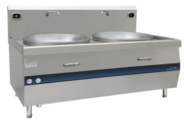 China Double burner heavy duty induction wok cooker