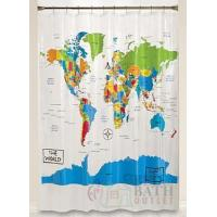 World Map Shower Curtain Manufactures