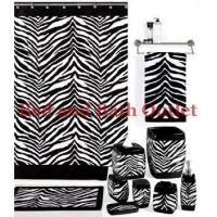 Zebra Black/White Bath Ensemble by Creative Bath Products Manufactures