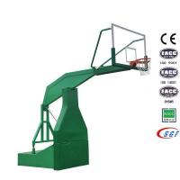 Good electric hydraulic basketball stand set folding basketball hoop for sale Manufactures