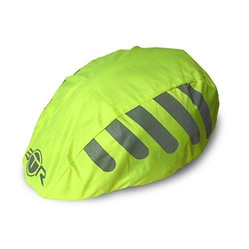 Quality Btr High Visibility Yellow Universal Size Bike / Bicycle Waterproof Helmet Cover With Reflective Str for sale