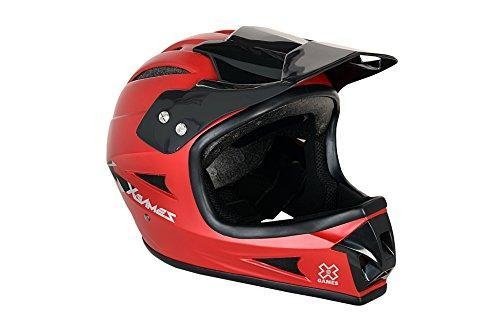 Quality X-games Youth Full Face Helmet, Satin Red for sale