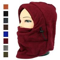 Lady And Men Winter Thick Warm Riding Hat Ski Bike Wind Stopper Mask Motor Helmet Parts (burgundy) Manufactures