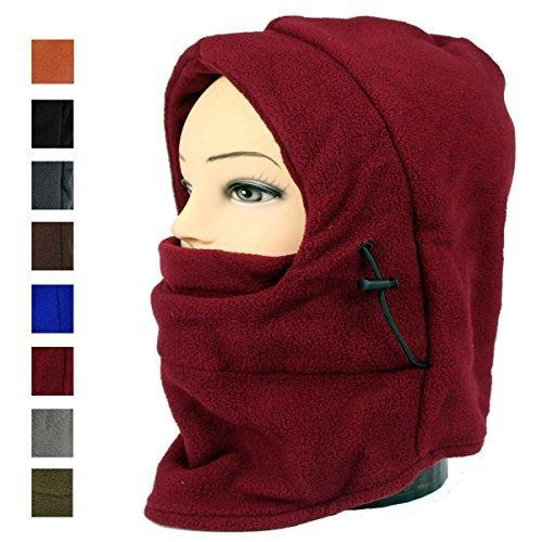 Quality Lady And Men Winter Thick Warm Riding Hat Ski Bike Wind Stopper Mask Motor Helmet Parts (burgundy) for sale