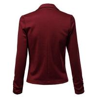 Solid Good Stretchy Comfy Jacket One Button Blazer Hot Burgundy Size S Manufactures