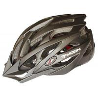 Moon Road And Mountain Bike Mtb Helmet, Light Weight With High Grade Eps And Pc(black)