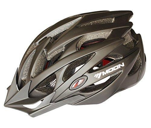 Quality Moon Road And Mountain Bike Mtb Helmet, Light Weight With High Grade Eps And Pc(black) for sale