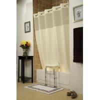China Getting Ready Home Bench Buddy Hookless Shower Curtain Whitaker on sale