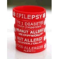 China Boys Medical ID bracelets Type 1 Diabetes Silicone Rubber bracelet on sale