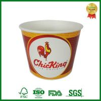 Printed KFC Family Kentucky Paper Fried Chicken Bucket With Paper Lid Manufactures