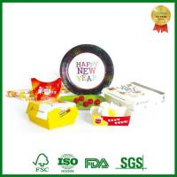 Disposable Cardboard Lunch Paper Box With Department For Food Packing Manufactures
