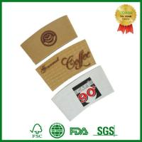Custom Print Cardboard Paper Sleeve For Hot Coffee Cup With Lid And Sleeve Manufactures