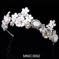 High Quality Zircon With Pearl Bridal Wedding Headpiece Jewelry Manufactures