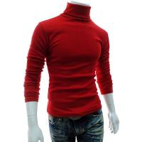 Men Dark Red Cotton Blends Blouse Men's Clothing Manufactures