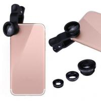 China Vodool Clip 3-in-1 180 Fish-eye Lens+Wide Angle Lens+Micro Lens Black wholesale
