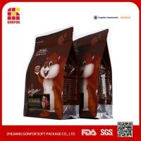 China Custom Wholesae Side Gusset Flat Bottom Pet Food Quad Seal Bag 2.7kg on sale