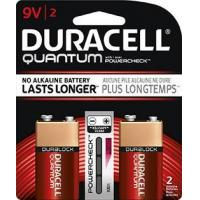 Buy cheap Duracell Quantum 9 Volt Alkaline Battery, 2 pack from wholesalers