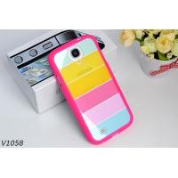 Soft Silicone Protective Cover Case For Samsung Galaxy S4 i9500 Colorful Strips Case Rainbrow Case Manufactures