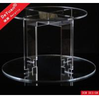 China acrylic cake stand Cup Cake Tower / Tier Plate Stand Transparent OEM Design on sale