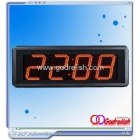 China Led clock radio controlled led clock Model number:GC504A on sale