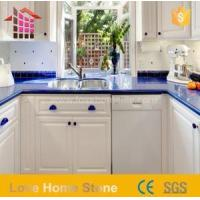China Artificial Engineered Quartz Countertop Blue Colors with Competitive Price on sale