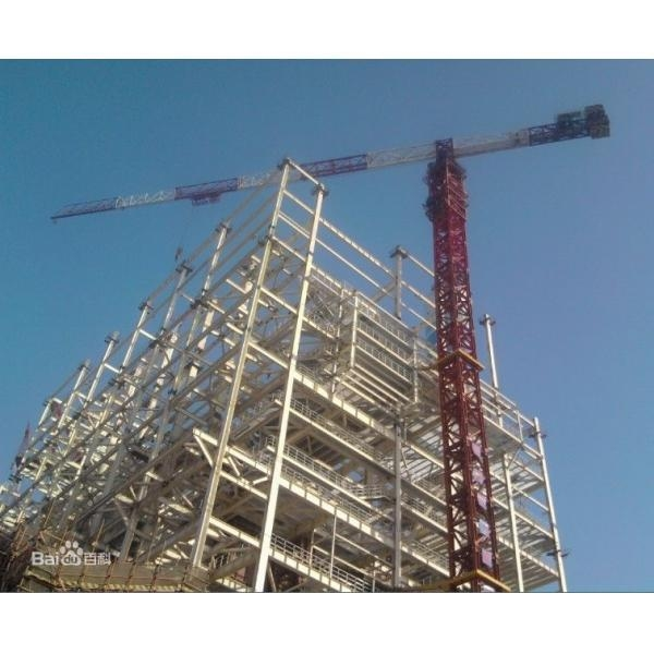 Quality P125 10t Hydraulic Rising Flathead tower crane for sale