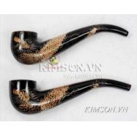 Smoking pipe made of real horn Manufactures