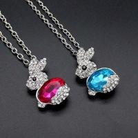 Buy cheap Cute Little Bunny Rabbit Necklace Chain Mixed Batch from wholesalers
