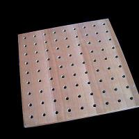 Buy cheap Perforated Acoustic Ceiling Perforated Wooden Acoustic Panel from wholesalers