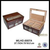 100CT Glass Top Wooden Cigar Humidor Manufactures