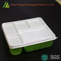 Buy cheap Disposable plastic bento box with lid from wholesalers